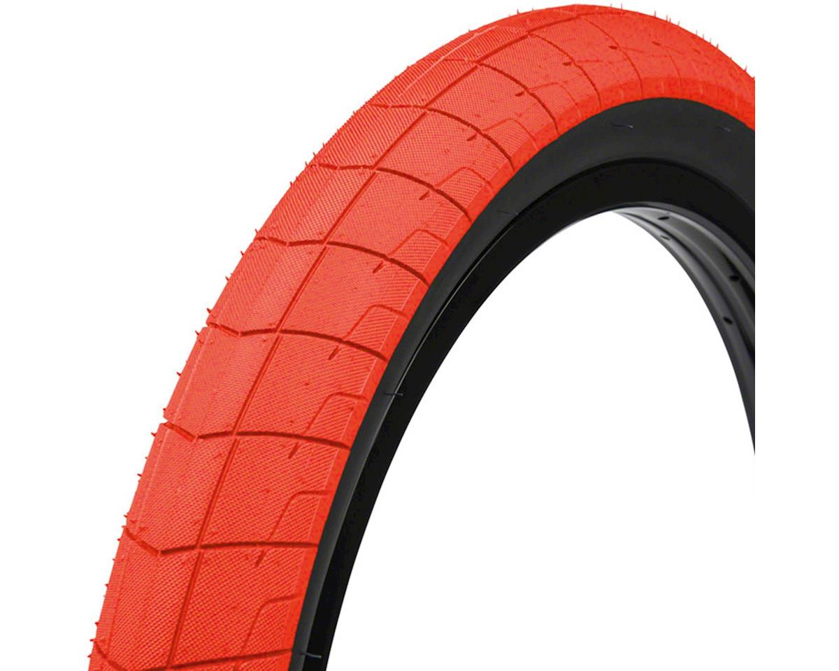 "Eclat Fireball Tire 20"" x 2.40"" 100 PSI Neon Red Tread/Black Sidewall"