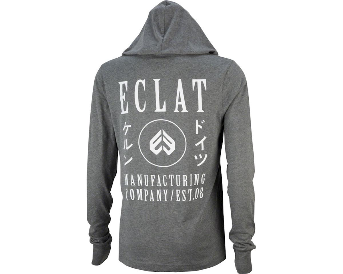 Eclat Circle Icon Long Sleeve T-Shirt: Dark Heather Gray MD (XL)