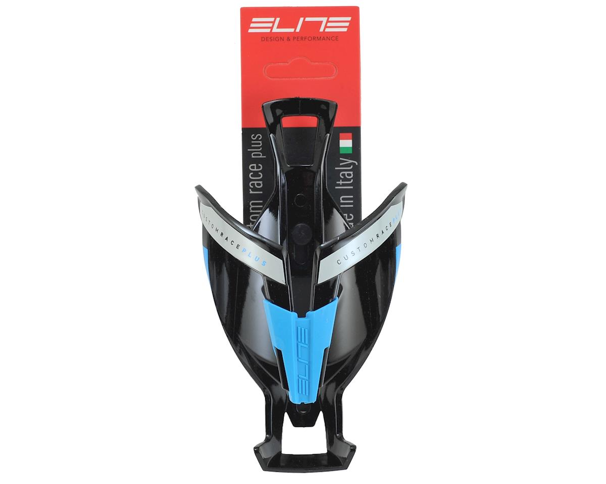 Elite Custom Race Plus Bottle Cage (Gloss Black/Blue)