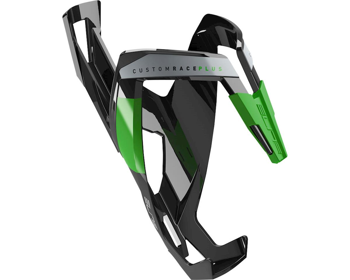Elite Custom Race Plus Bottle Cage (Gloss Black/Green)