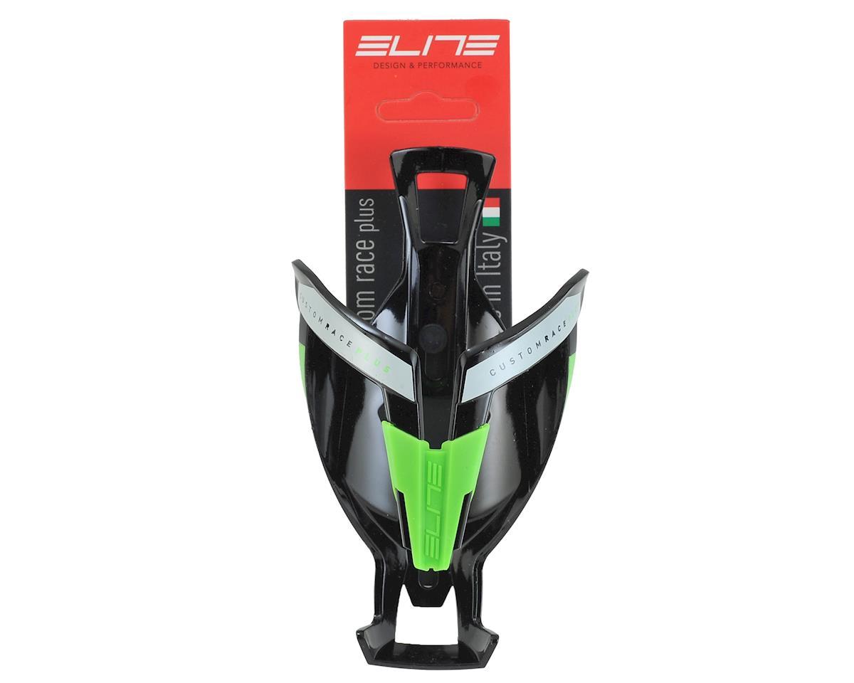 Elite Custom Race Plus Bottle Cage (Gloss Black/Green)
