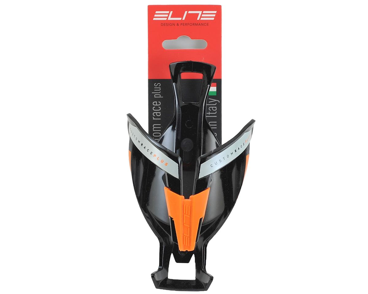 Elite Custom Race Plus Bottle Cage (Gloss Black/Orange)