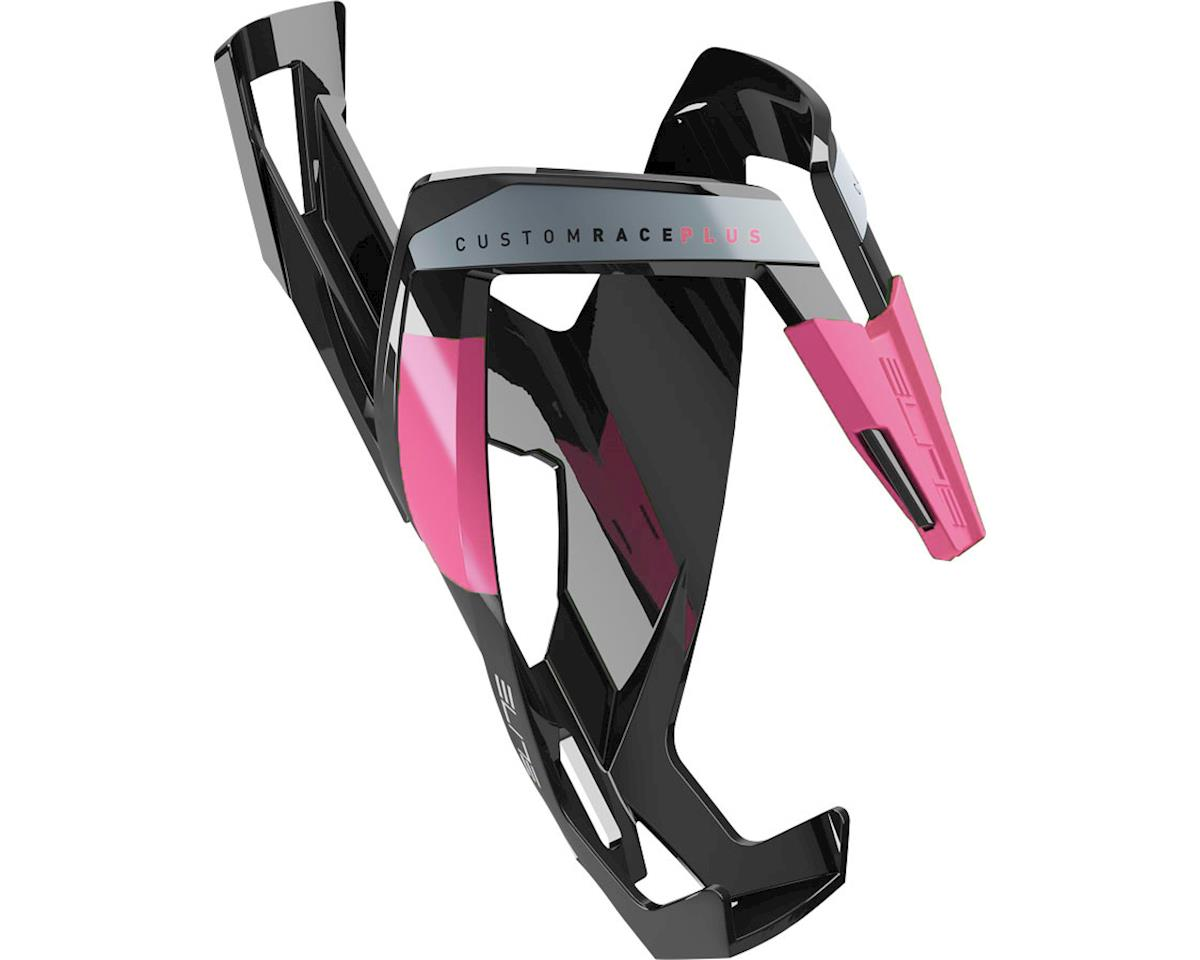 Elite Custom Race Plus Bottle Cage (gloss black/pink)