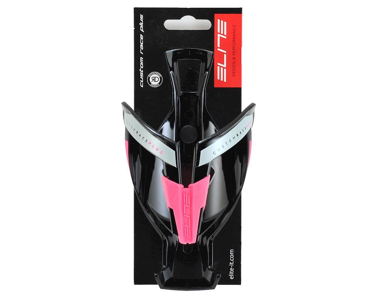 Elite Custom Race Plus Bottle Cage (Gloss Black/Pink)