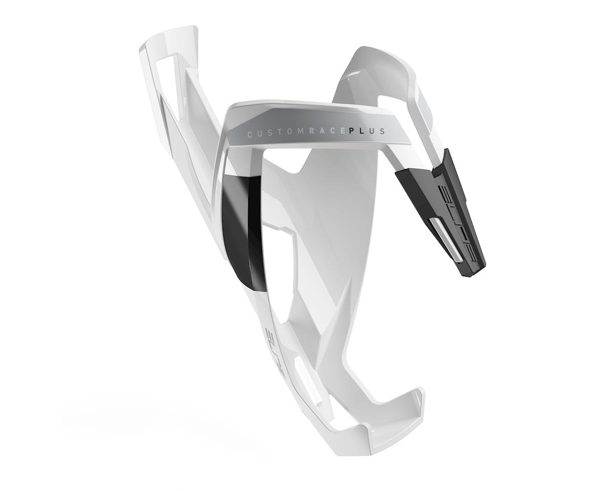 Elite Custom Race Plus Bottle Cage (Gloss White/Black)