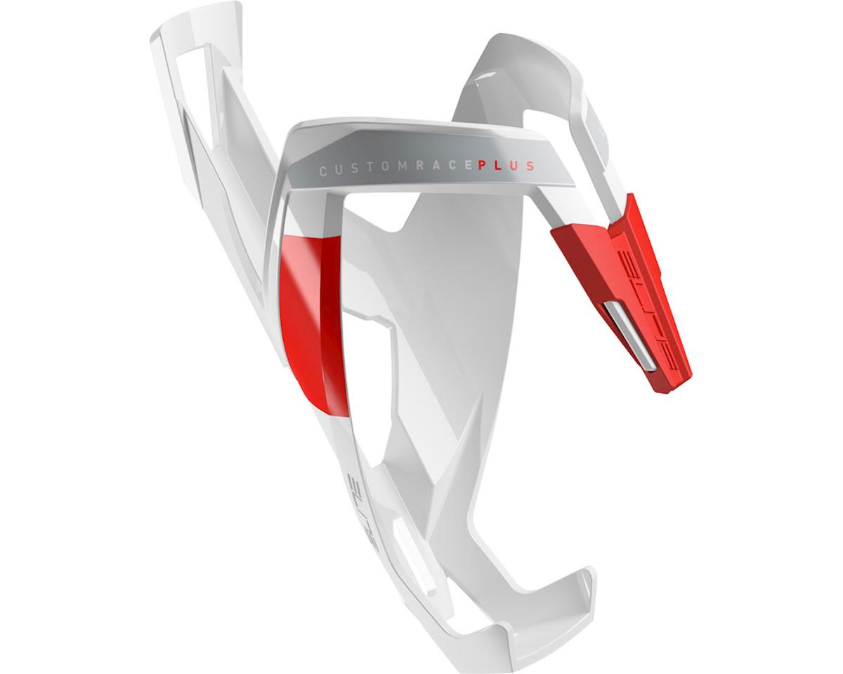 Elite Custom Race Plus Bottle Cage (Gloss White/Red)