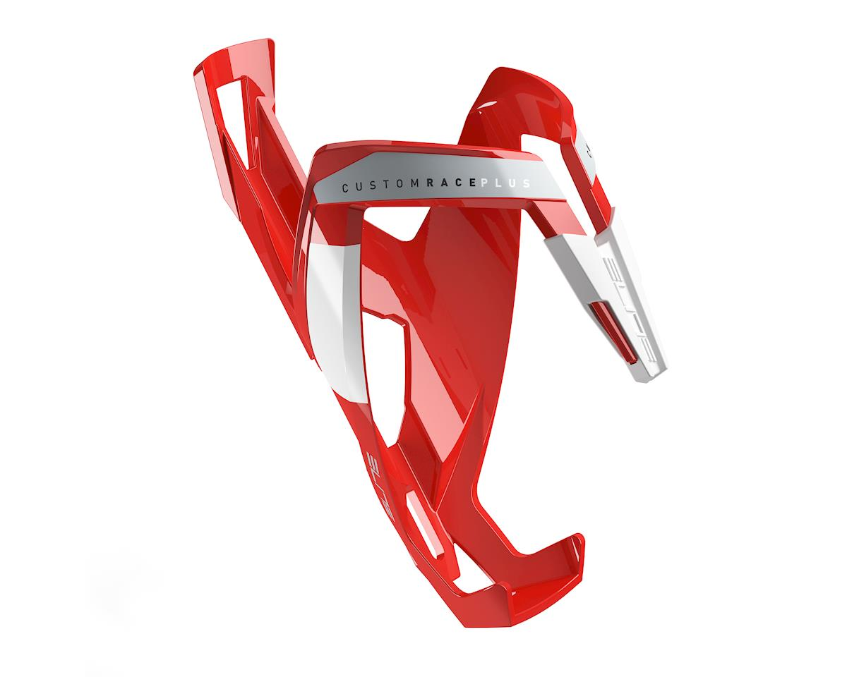 Elite Custom Race Plus Bottle Cage (Gloss Red/White)