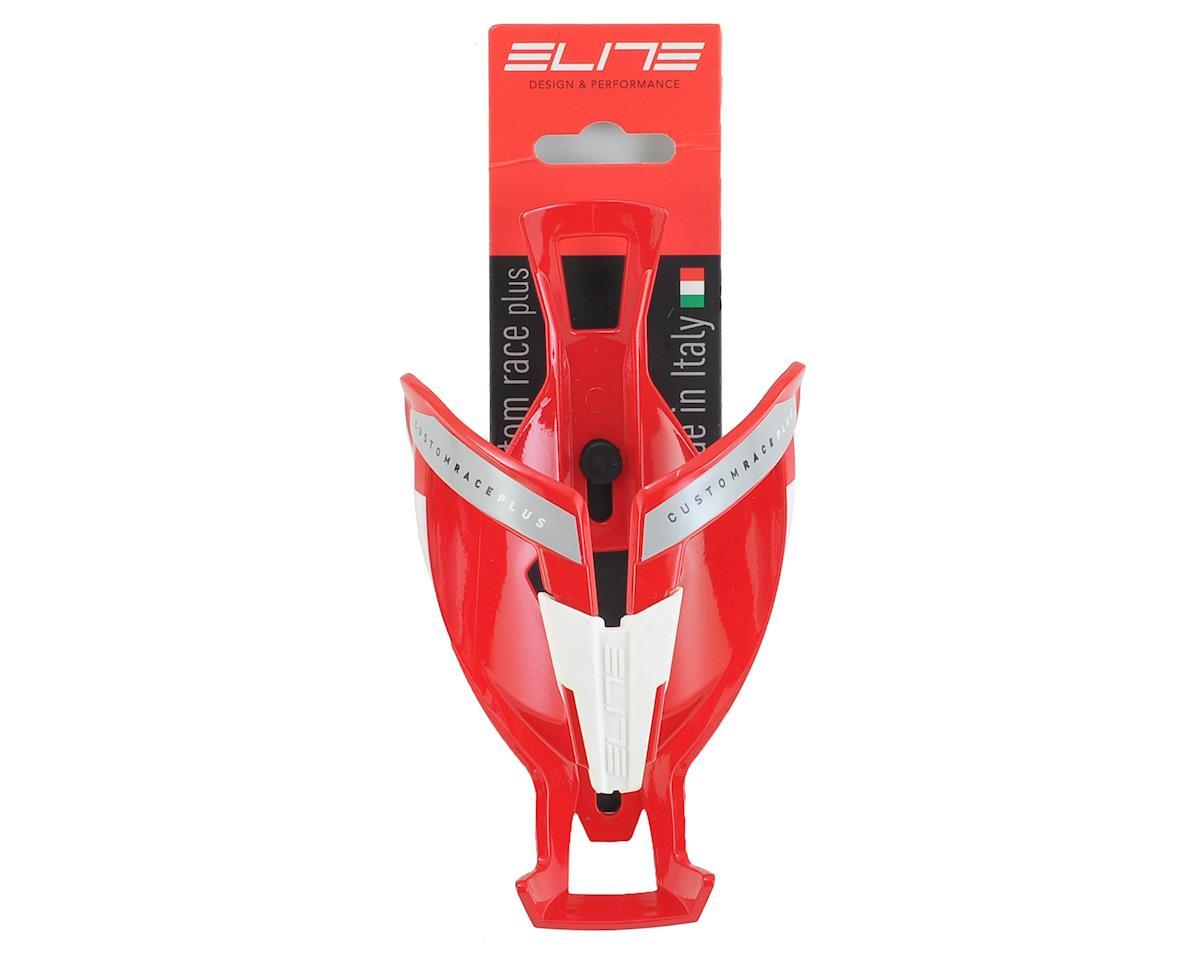 Elite Custom Race Plus Bottle Cage (Gloss Red/White)