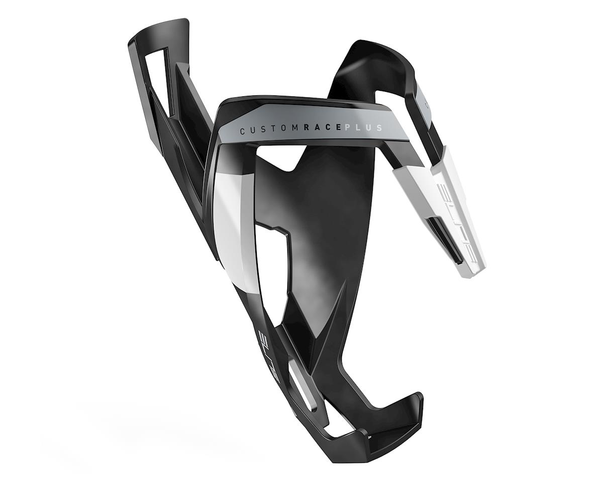 Elite Custom Race Plus Bottle Cage (Matte Black/White)