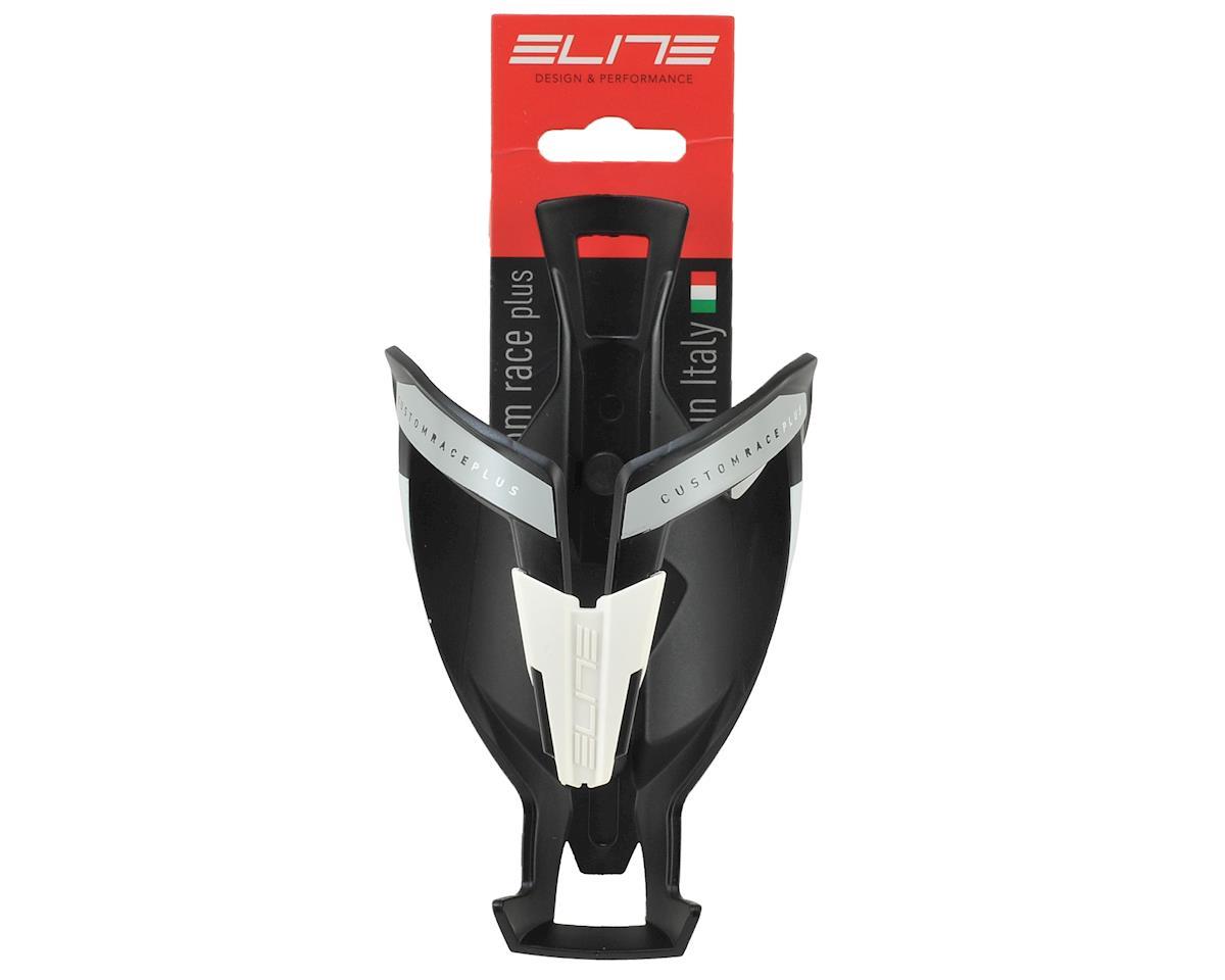 Elite Custom Race Plus Bottle Cage (Matte Black/White)