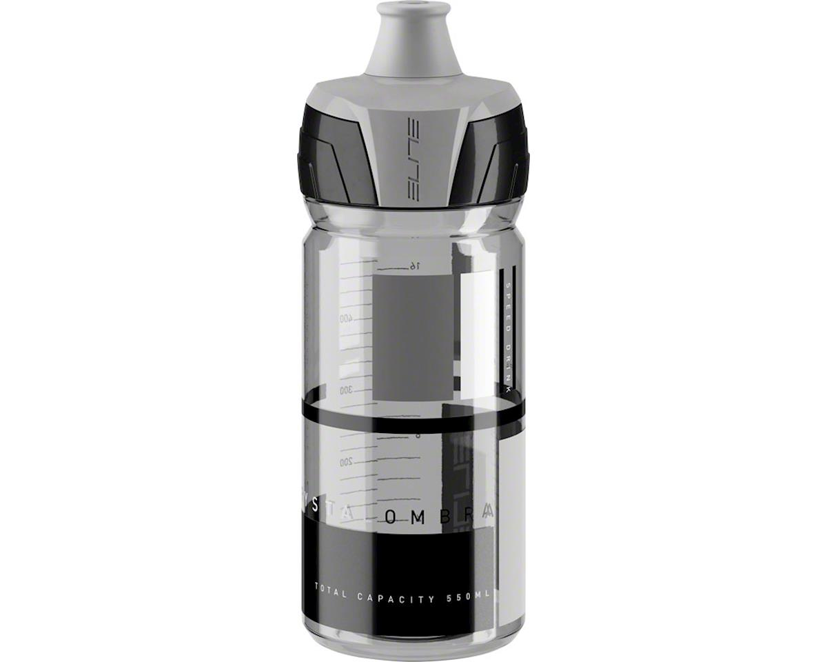 Elite Crystal Ombra Water Bottle (Clear w/ Gray Graphics) (550ml)