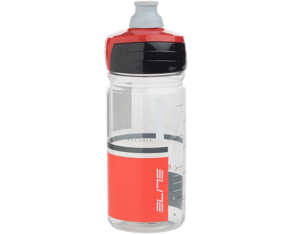 Elite Crystal Ombra 550ml Water Bottle: Clear/Red