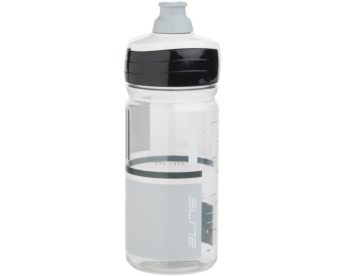 Elite Crystal Ombra 550ml Water Bottle: Clear/Gray