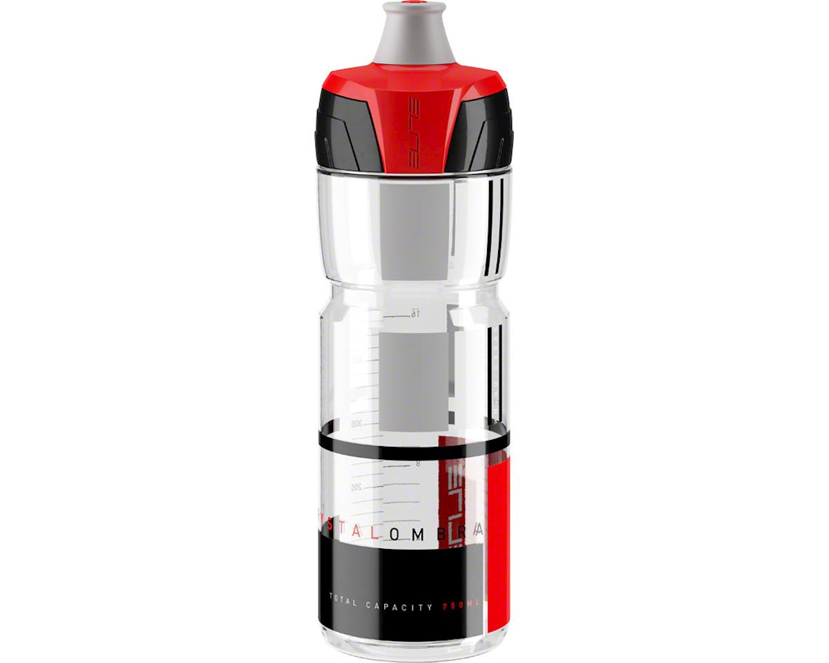 Elite Crystal Ombra Water Bottle (Clear w/ Red Graphics) (750ml)
