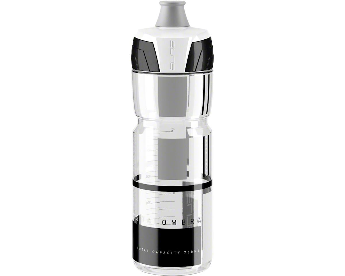 Elite Crystal Ombra 750ml Water Bottle: Clear with Gray Graphics
