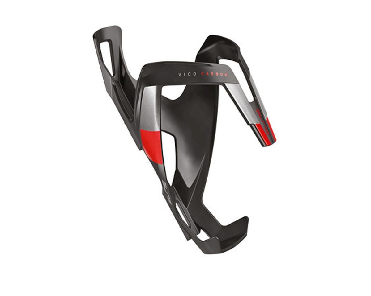 Elite Vico Carbon Bottle Cage (Matte Black/Red)
