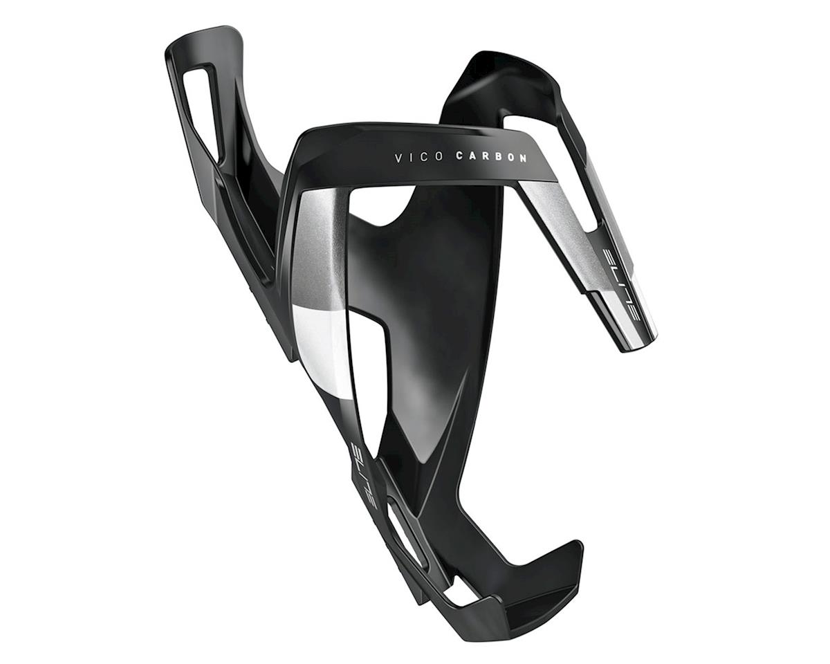 Elite Vico Carbon Bottle Cage (Matte Black/White)