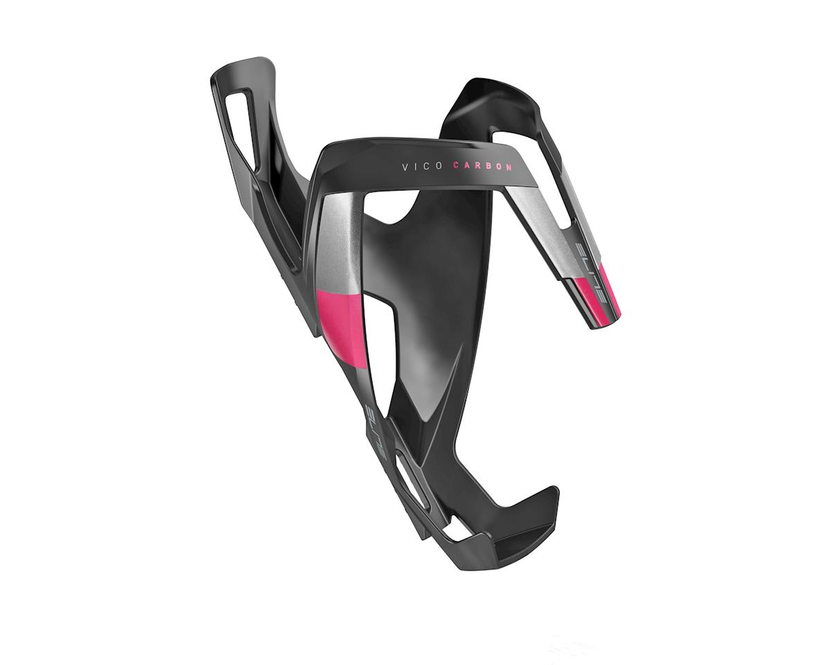 Elite Vico Carbon Bottle Cage (Matte Black/Pink)