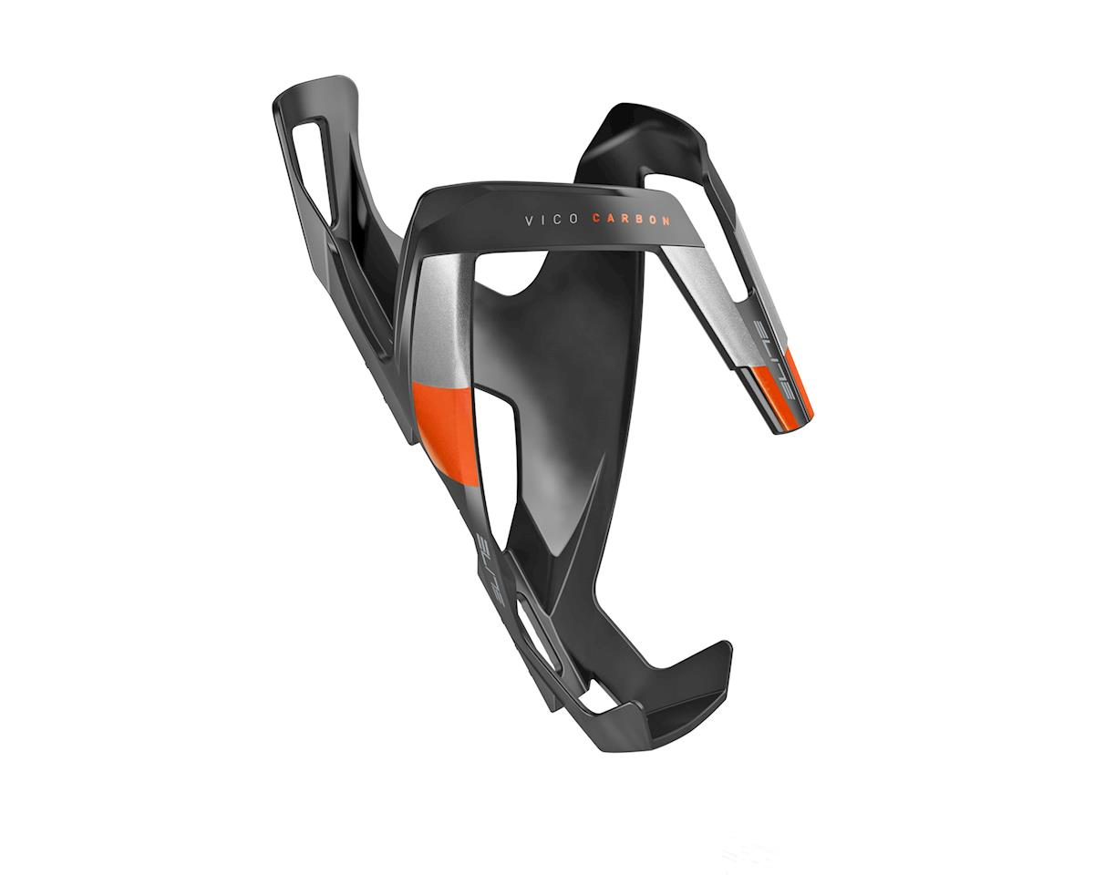 Elite Vico Carbon Bottle Cage (Matte Black/Orange)