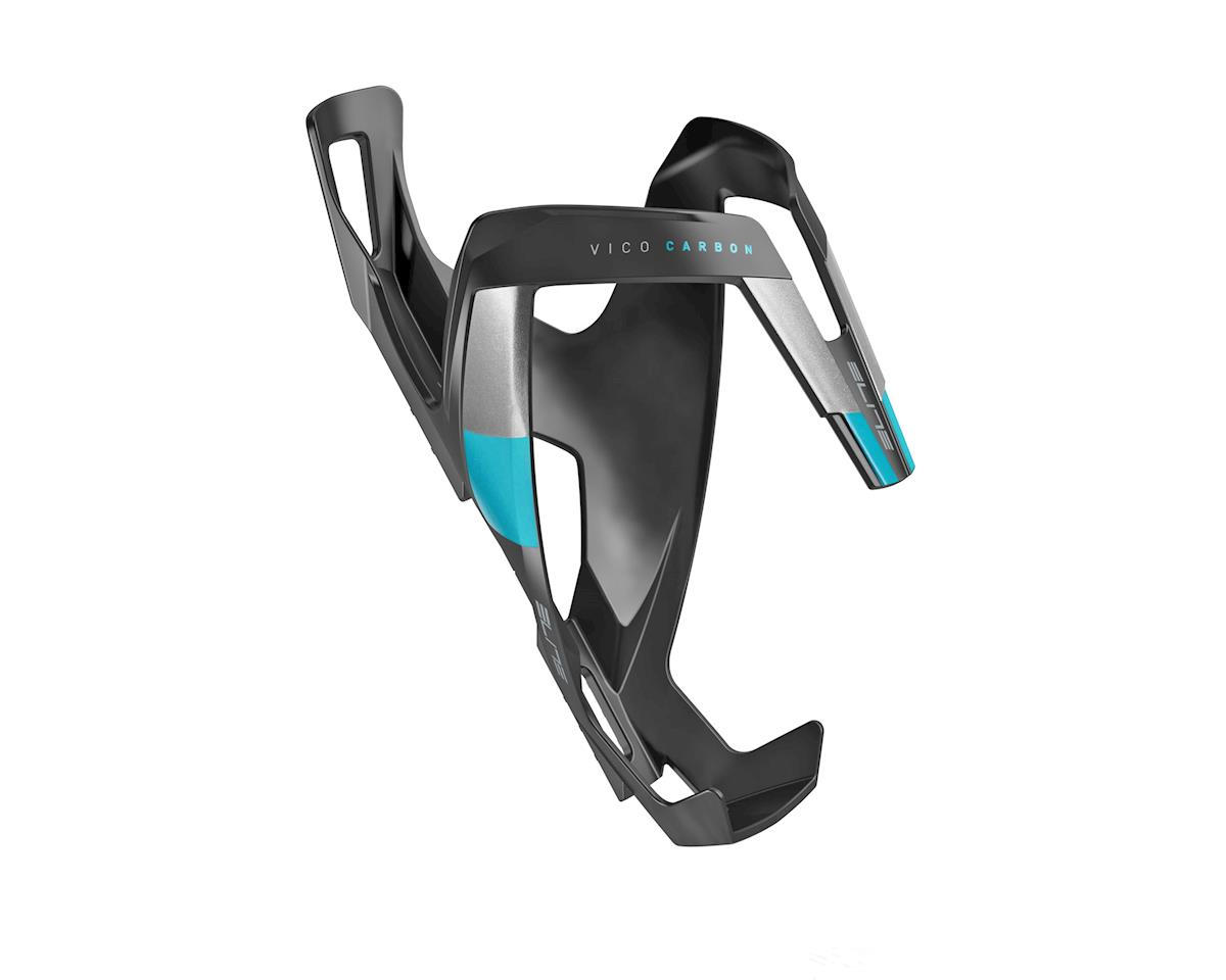 Elite Vico Carbon Bottle Cage (Matte Black/Light Blue)