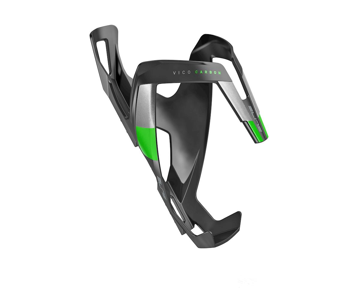 Elite Vico Carbon Bottle Cage (Matte Black/Green)