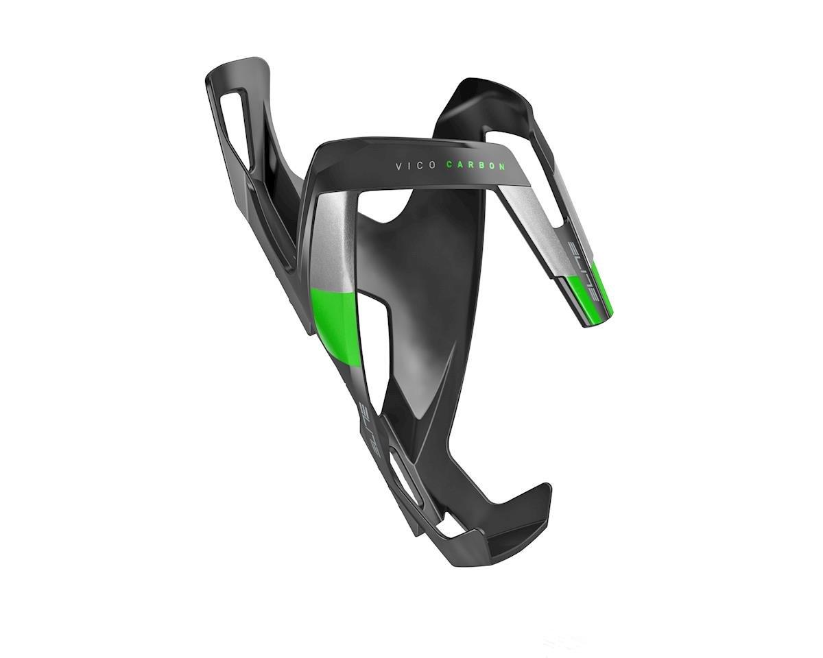 Elite Vico Carbon Bottle Cage (Matte Black/Green)