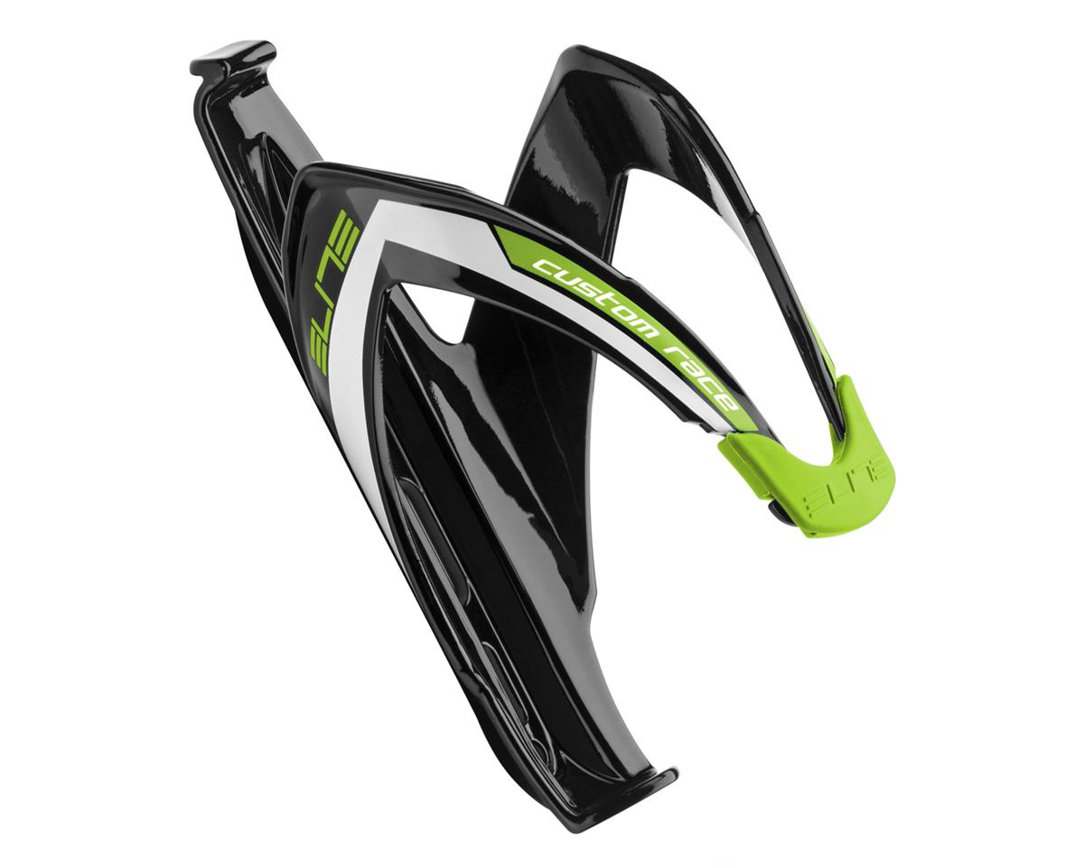 Elite Custom Race Bottle Cage (Gloss Black/Green)