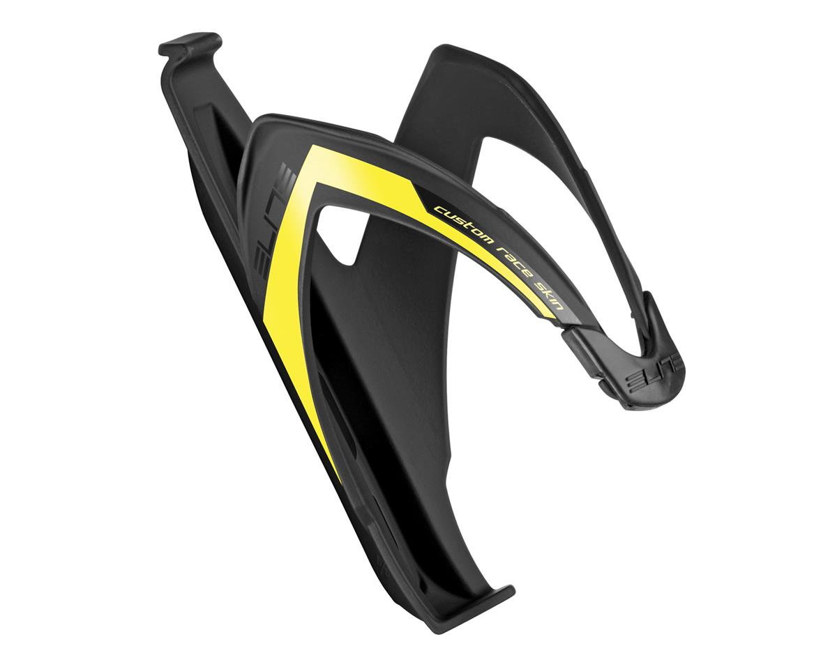Elite Custom Race Skin Bottle Cage (Black/Yellow)
