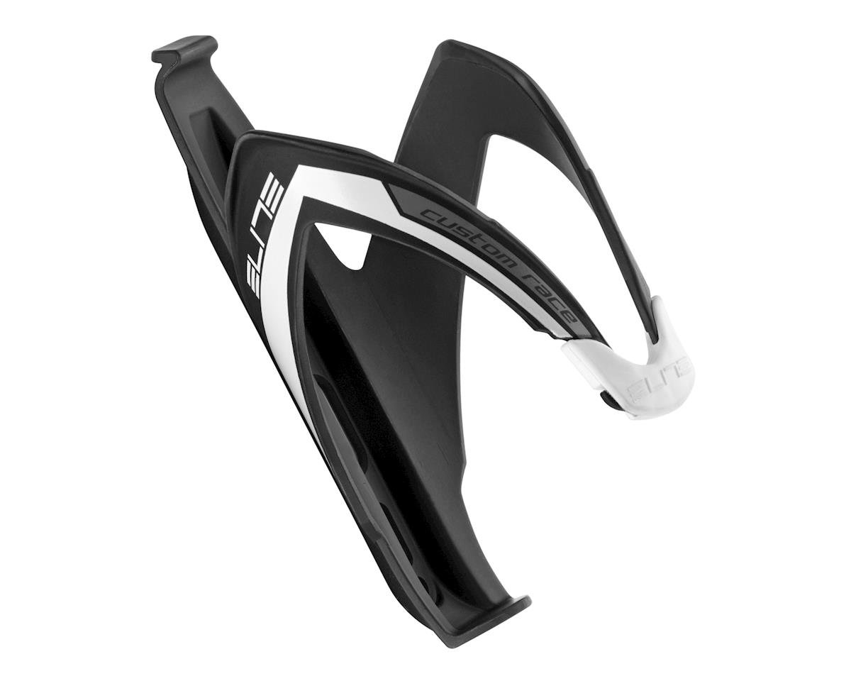Elite Custom Race Bottle Cage (Matte Black/Whte)