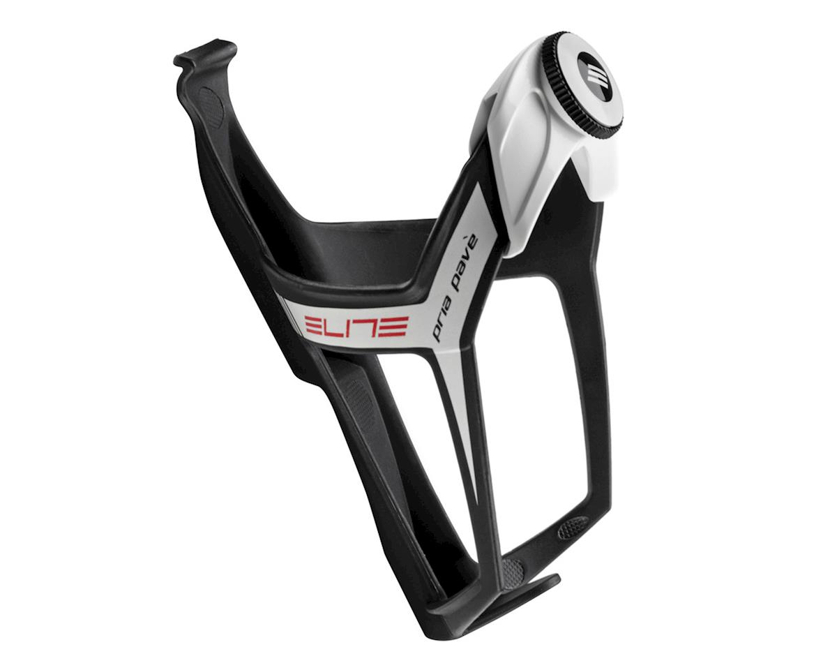 Elite Pria Pavè Adjustable Bottle Cage (Black/White)