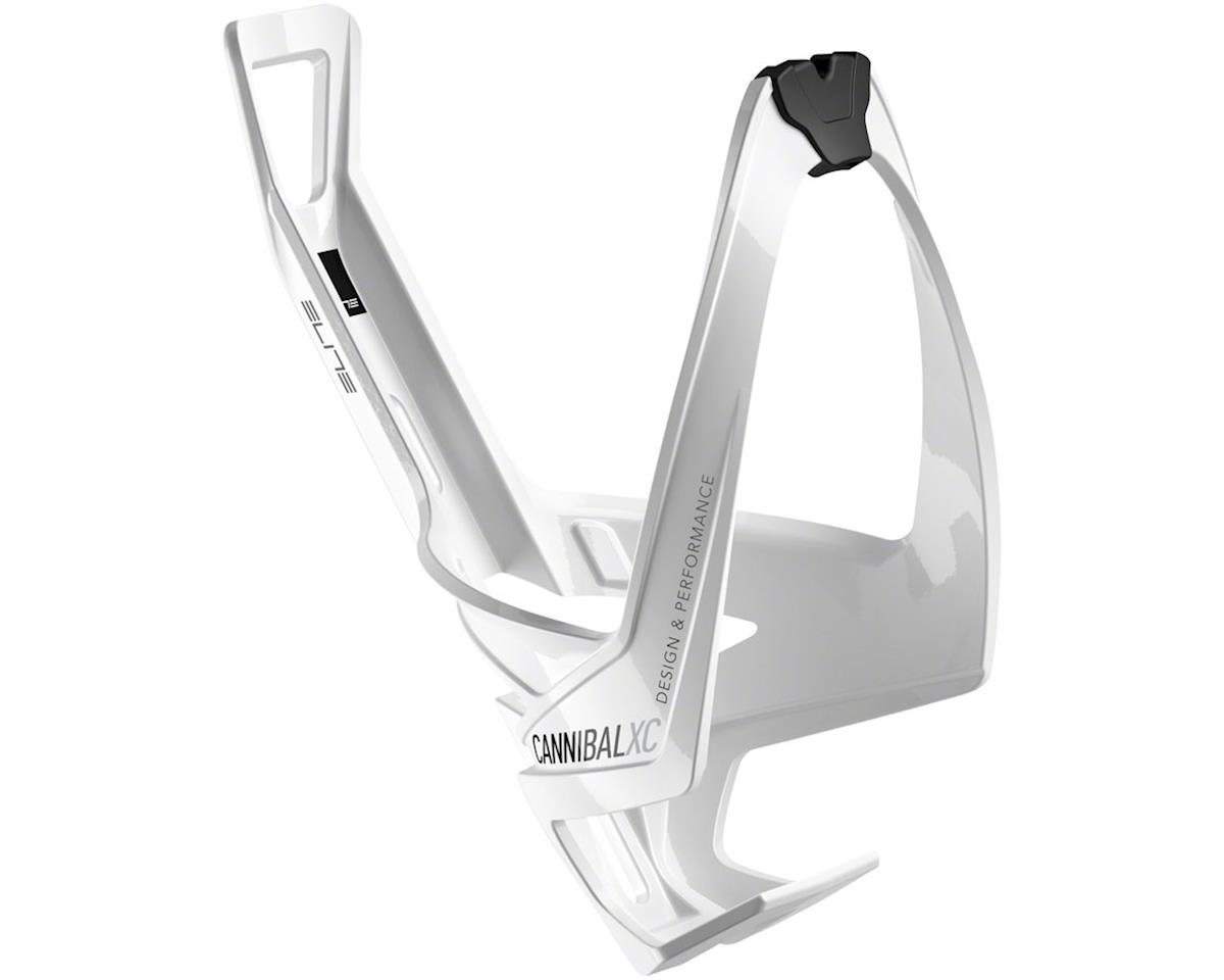Elite Cannibal Xc Bottle Cage Gloss White Black Graphic