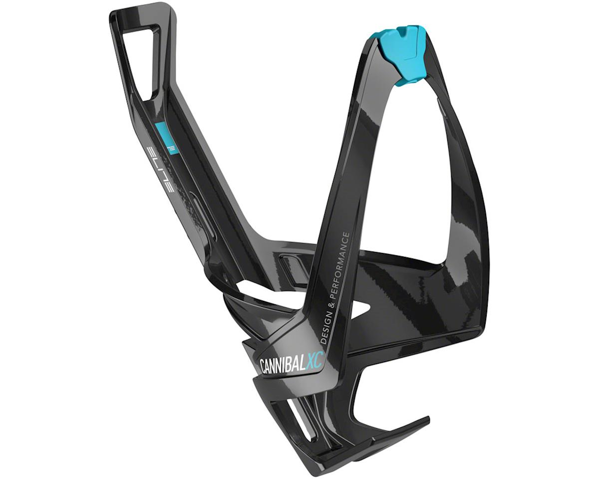 Elite Cannibal XC Bottle Cage (Gloss Black/Blue Graphic)