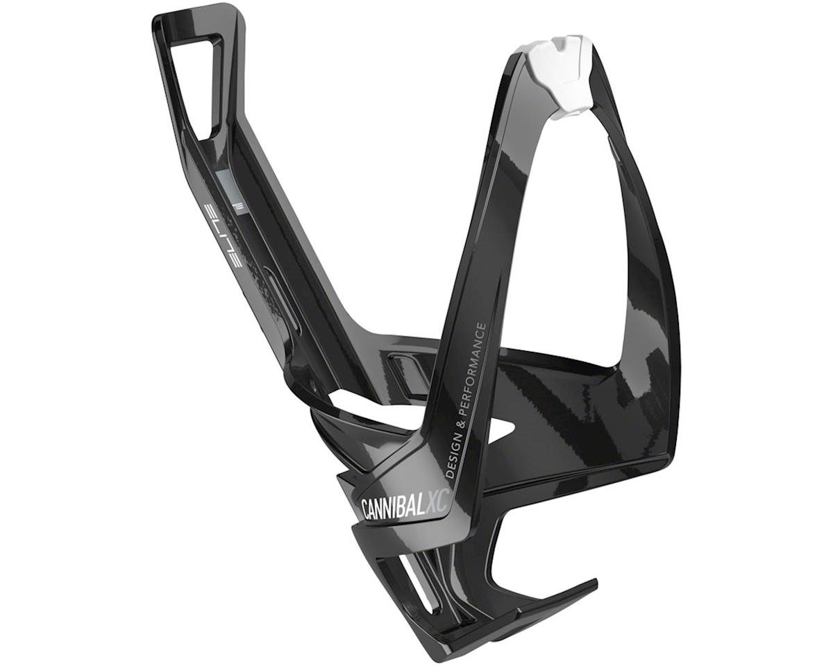 Elite Cannibal XC Bottle Cage (Gloss Black/White Graphic)