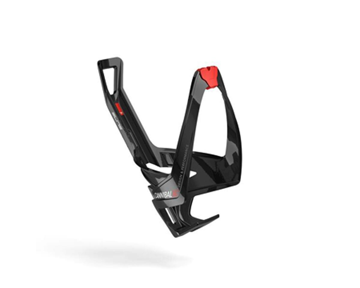 Elite Cannibal XC Bottle Cage (Gloss Black/Red Graphic)