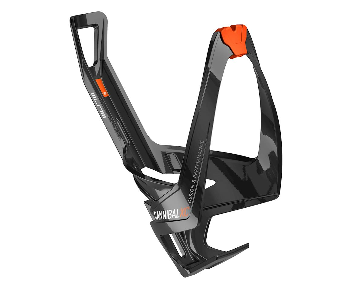 Elite Cannibal XC Bottle Cage (Black Glossy/Orange Graphic)