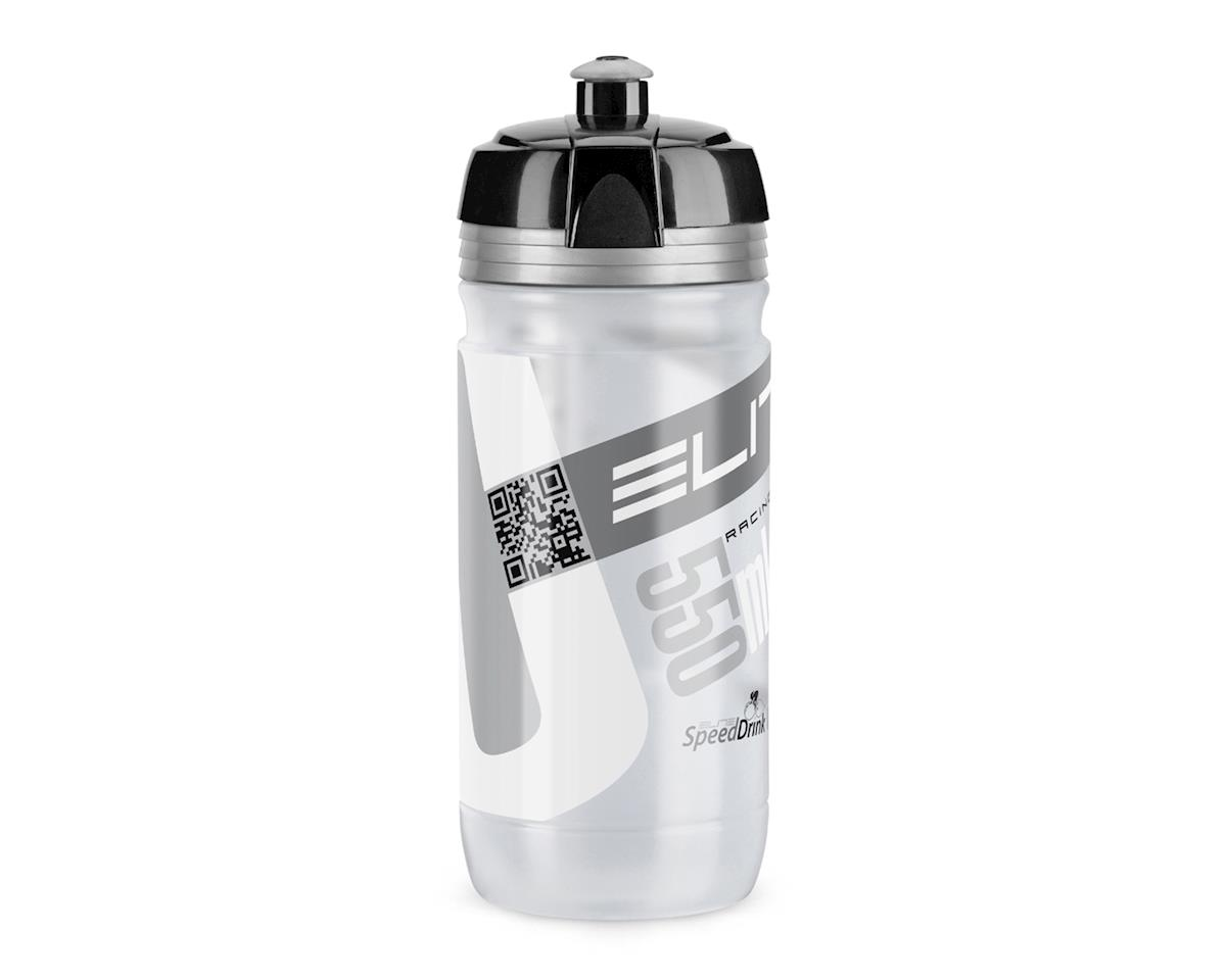 Elite Corsa Clear Biodegradeable Water Bottle (Silver/Black) (550ml)