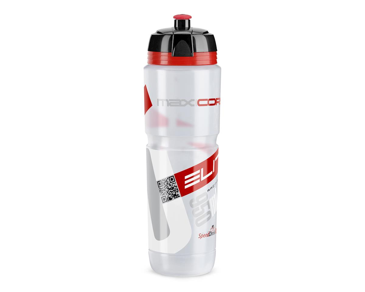 Elite Maxi Corsa Biodegradeable Water Bottle (Clear/Red/Black) (950ml)