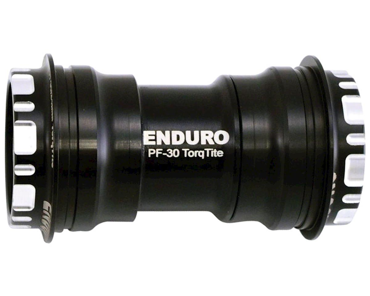 Enduro TorqTite Bottom Bracket: PF30 to 24mm, Angular Contact Stainless Steel Be