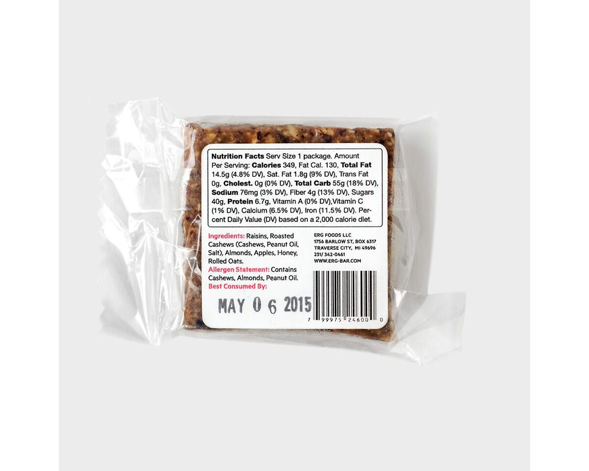 ERG! Energy Bars - Box of 12 (Fruit & Nuts)