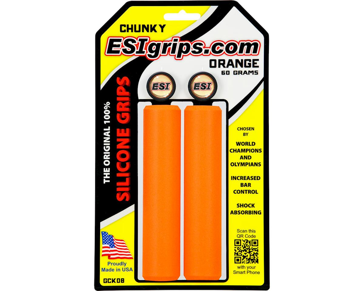 ESI Grips Chunky Silicone Grips (Orange) (32mm)
