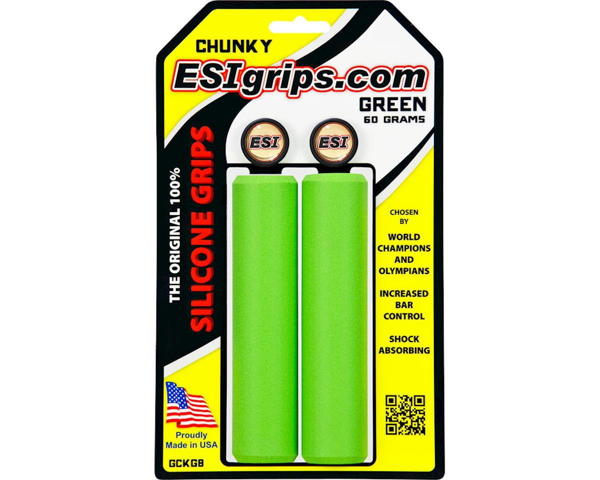 Chunky Silicone Grips (Green) (32mm)
