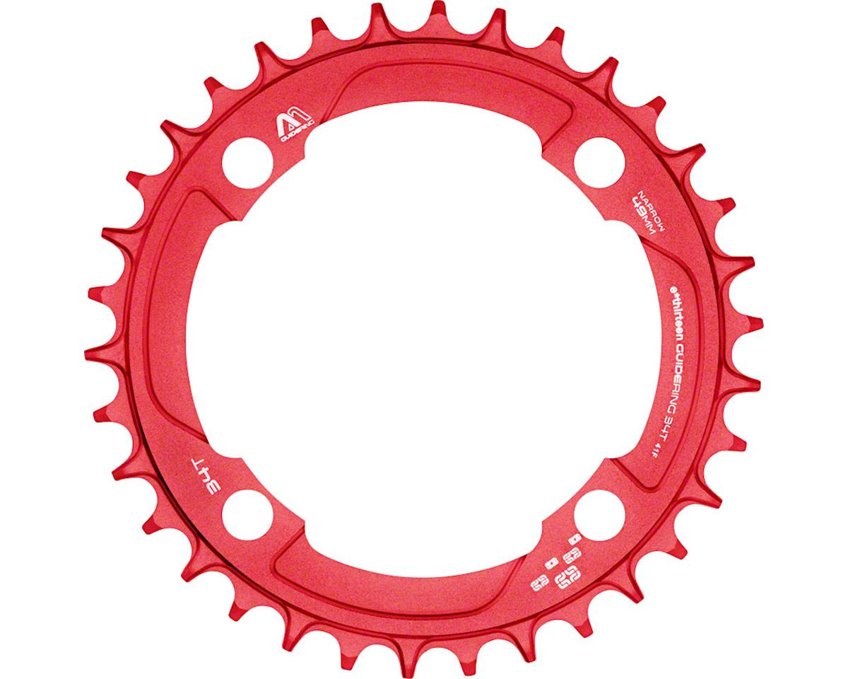 e*thirteen M Profile 10/11-speed Guide Ring 34t 104BCD Narrow Wide, Red