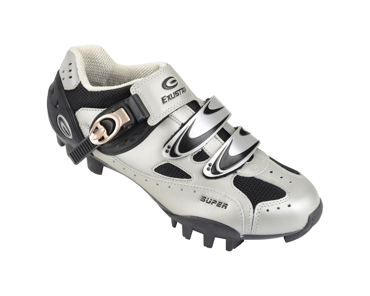 Image 1 for Exustar SM321 Mountain Shoes (Silver/Black)