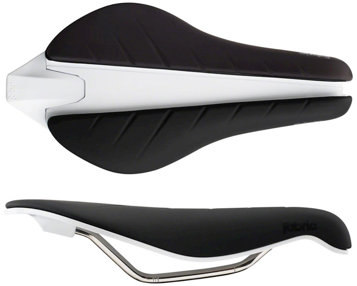 Fabric Tri Elite Flat Saddle (Black/White)