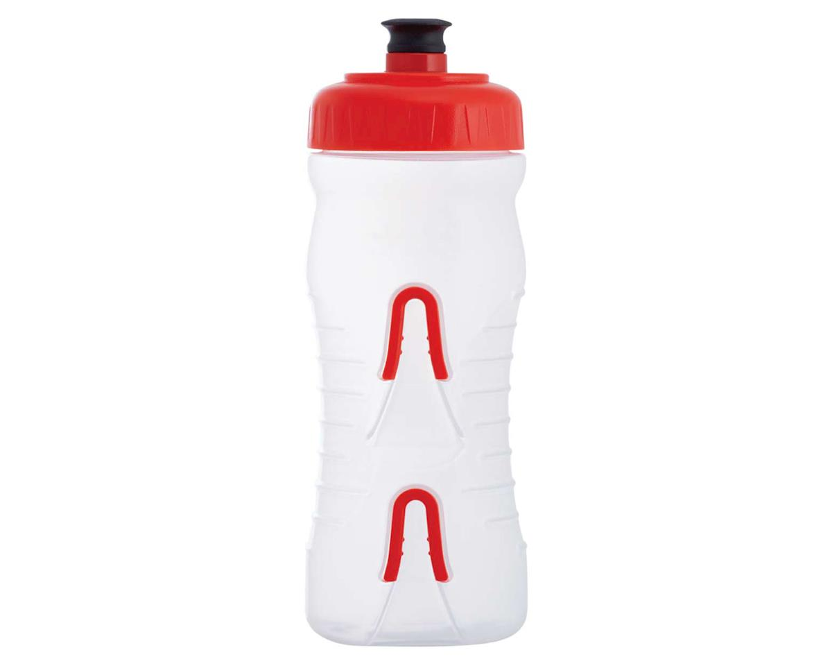 Fabric Cageless Water Bottle (Clear/Red) (22oz)