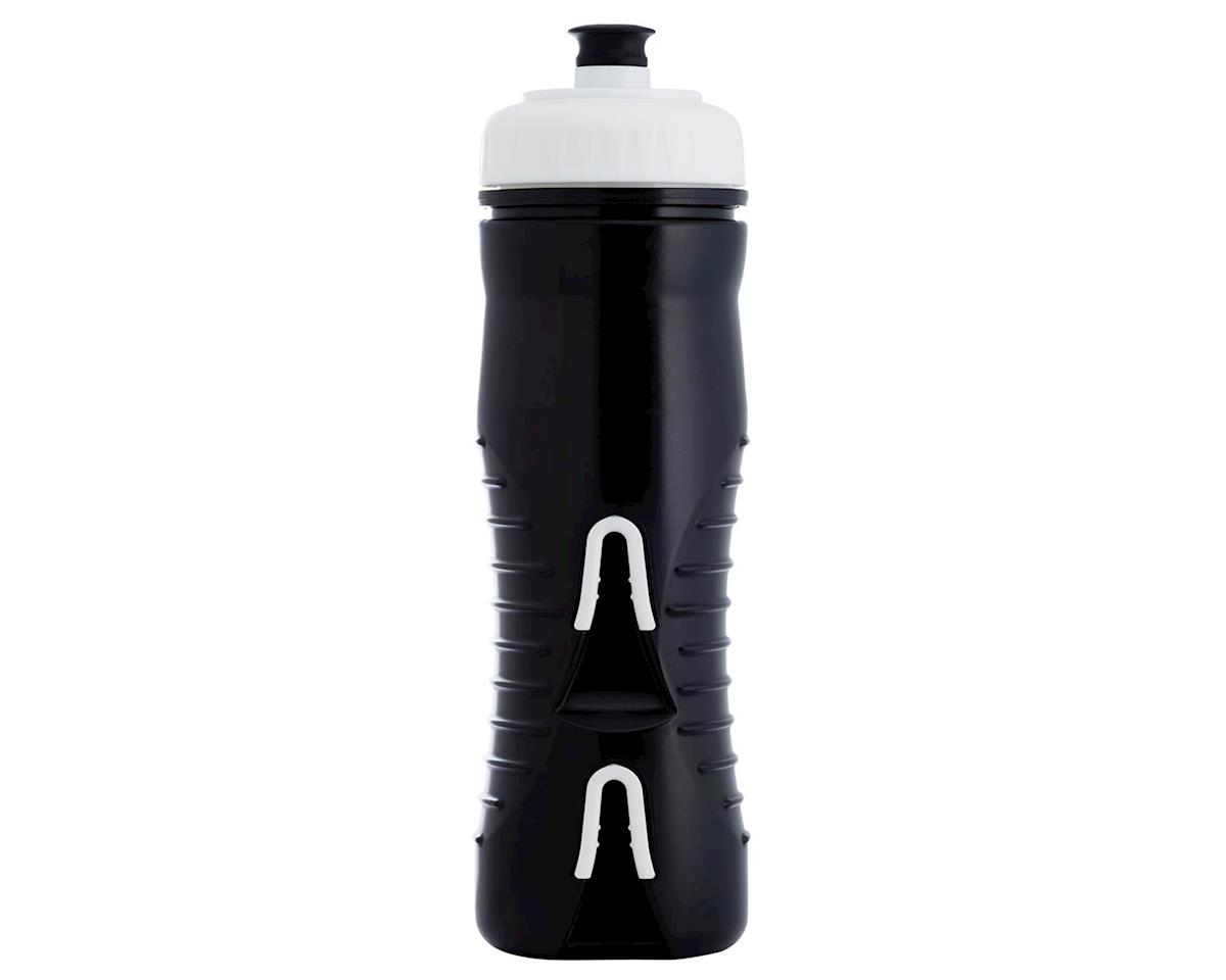Fabric Internal Insulated Cageless Water Bottle (600ml) (Black/White)