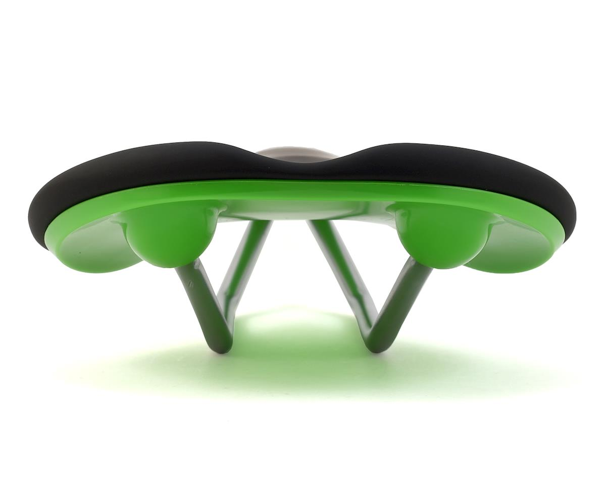 Fabric Scoop Flat Elite Saddle (Black/Green)