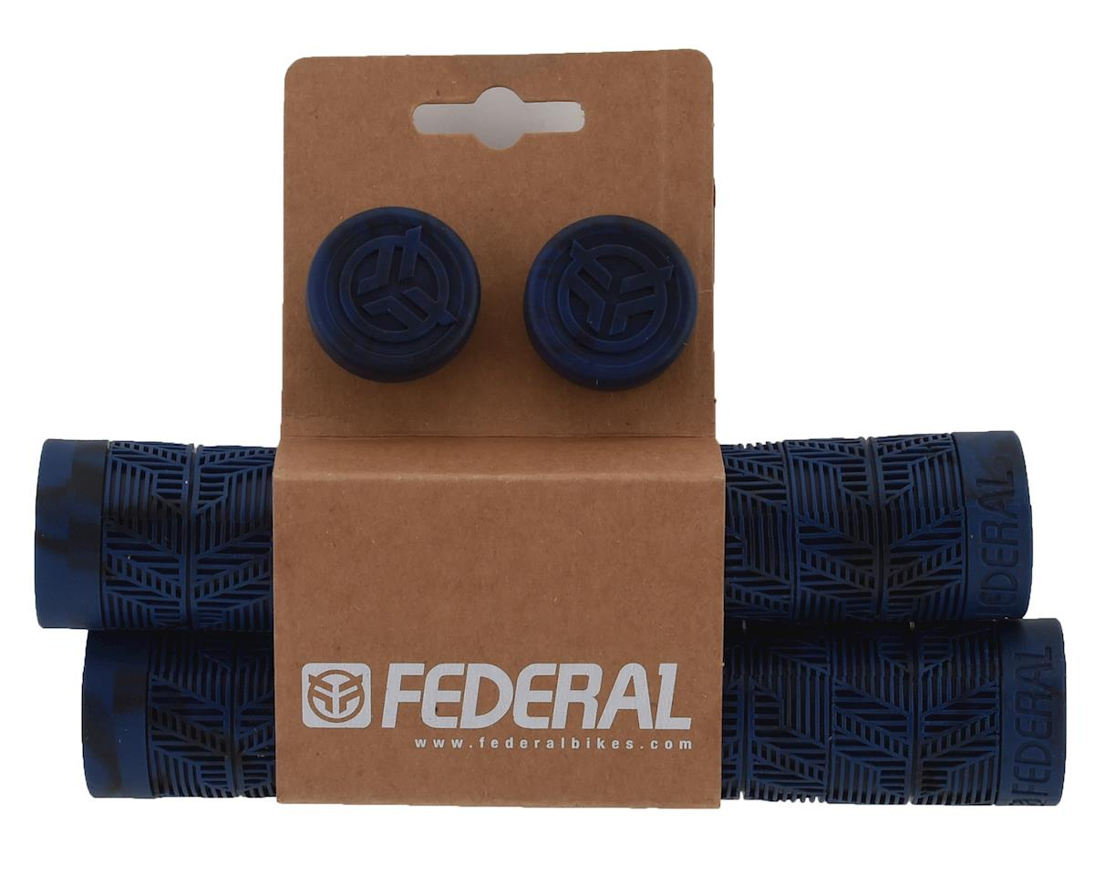 Federal Bikes Command Flangeless Grips (Pair) (Midnight Blue/Black)