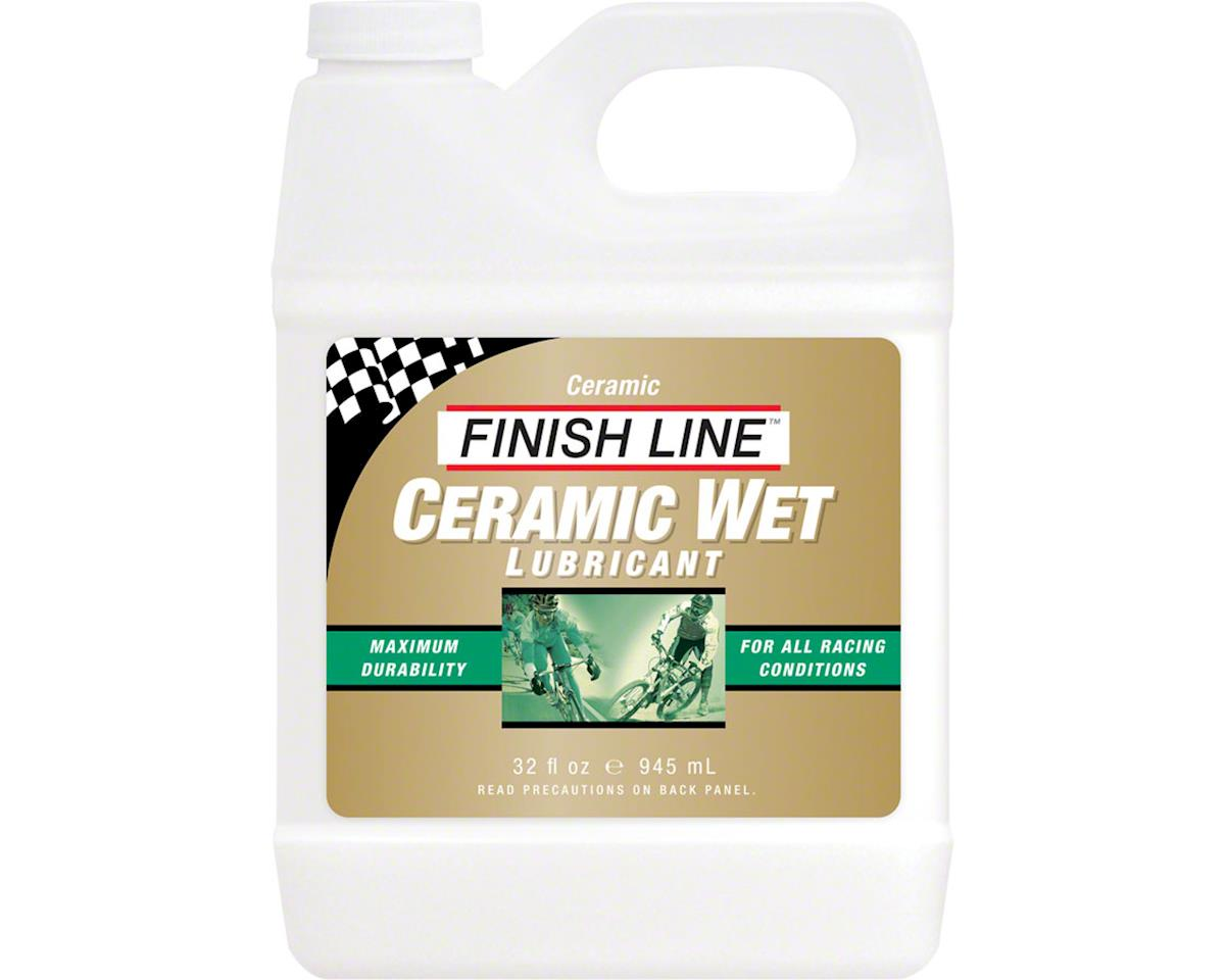 Finish Line Ceramic Wet  Bike Chain Lube - 32 fl oz, Bulk