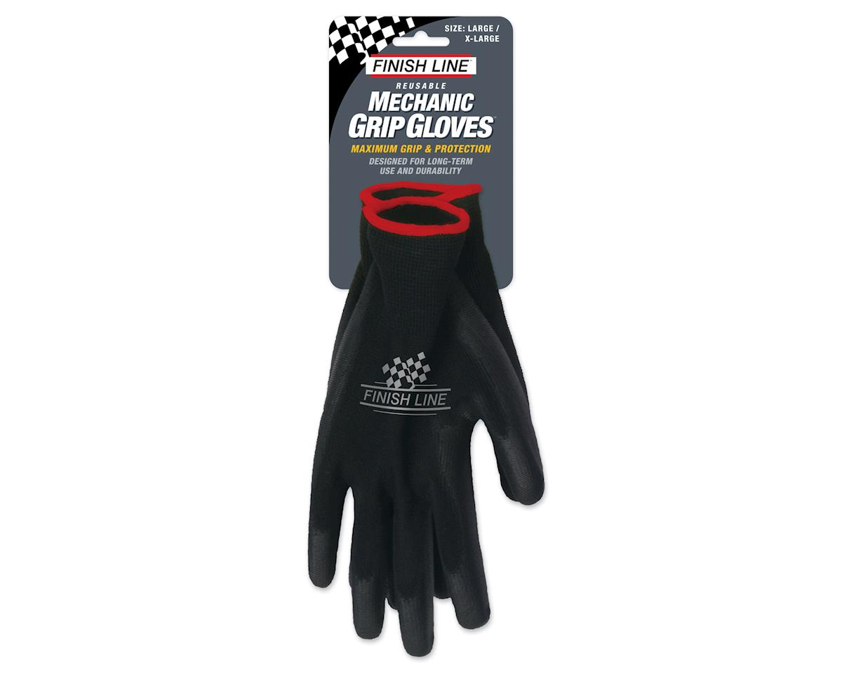 Finish Line Mechanic's Grip Gloves (Black)